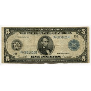 United States 5 Dollars 1914