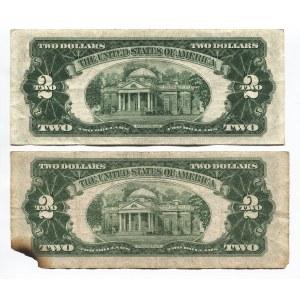 United States 2 x 2 Dollars 1953
