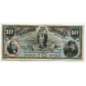 Uruguay 10 Pesos 1887