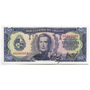 Uruguay 50 Pesos 1967