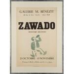 Jan Wacław (Zawado) ZAWADOWSKI (1891-1982), Plakat do wystawy własnej z odręczną ilustracją w akwareli