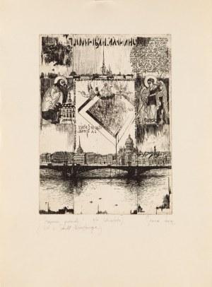 Tadeusz Michał SIARA (ur. 1941), Strącenie gwiazdy, z cyklu: list z Sankt Petersburga, 1992