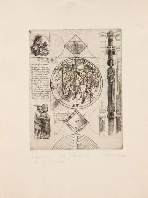 Tadeusz Michał SIARA (ur. 1941), Kuszenie, z cyklu: list z Chartres, 1986