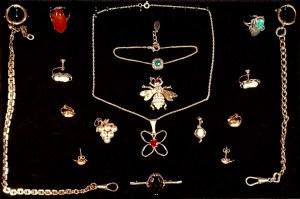 Zestaw biżuterii teatralnej