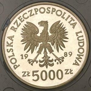 Moneta Władysław II Jagiełło 5000 zł z 1989r.