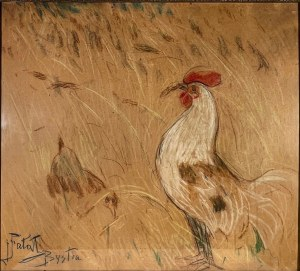 FAŁAT JULIAN (1853-1929), ''KOGUT''