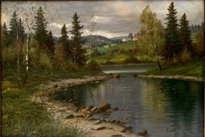 Carl Mol, ''Jezioro z zatoką''