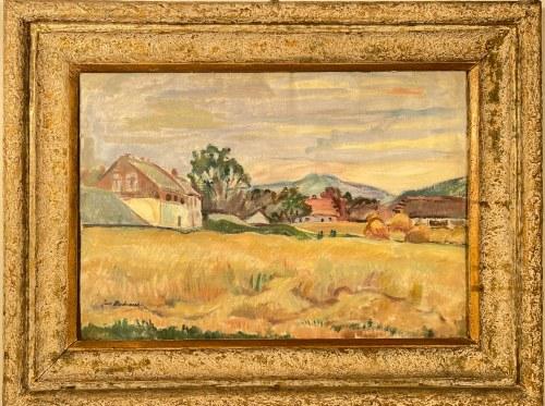 JAN BEDNARSKI(1891-1956), ''Wioska w południowej Francji''