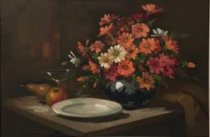 Nieokreślony malarz, ''Martwa natura z kwiatami''