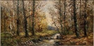 Nieokreślony malarz, ''Leśny strumień''