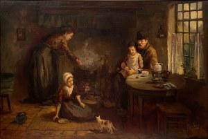 Cornelis Kees Terlouw(1890-1948),''W izbie flamandzkiej rodziny chłopskiej''