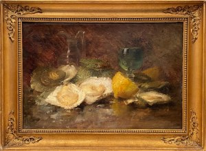 Nieustalony malarz, ''Martwa natura z owocami morza''