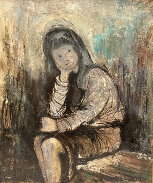 KANELBA RAJMUND(1891-1960),''PORTRET DZIEWCZYNKI''