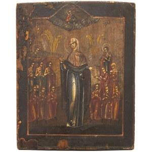 IKONA, WELON MATKI BOŻEJ (POKROW), Rosja, 1. poł. XIX w.