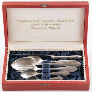 ZESTAW SZTUĆCÓW DLA 1 OSOBY, Polska, Warszawa, Warszawskie Fabryki Platerów (d. Bracia Henneberg), ok. 1950