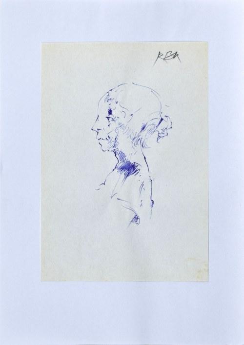 Roman BANASZEWSKI (1932-2021), Szkice popiersia kobiety z lewego profilu