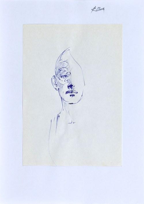 Roman BANASZEWSKI (1932-2021), Szkic popiersia mężczyzny