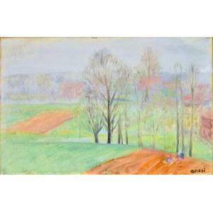 Irena WEISS – ANERI (1888-1981), Pejzaż wiosenny, 1969