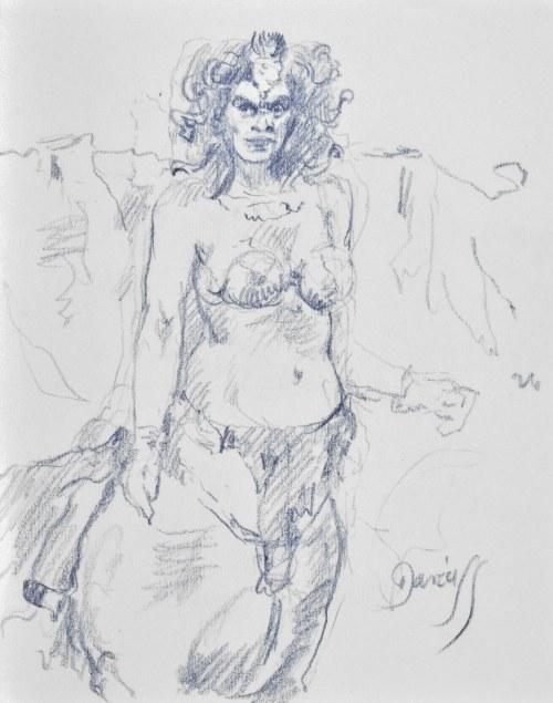 Dariusz KALETA Dariuss (Ur. 1960), Szkic kobiety