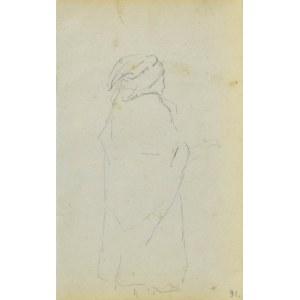 Jacek MALCZEWSKI (1854-1929), Zarys wiejskiej kobiety ukazanej z prawego boku