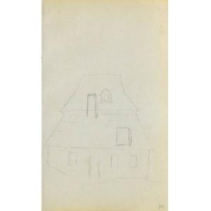 Jacek MALCZEWSKI (1854-1929), Szkic góralskiego domu z łamanym dachem