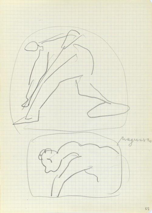 Jerzy PANEK (1918-2001), Szkice z dawnego malarstwa – Magnasco, 2 połowa 1969 r.