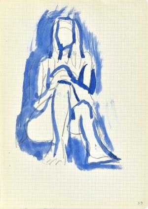 Jerzy PANEK (1918-2001), Akt siedzący, ok. 2 połowa 1969