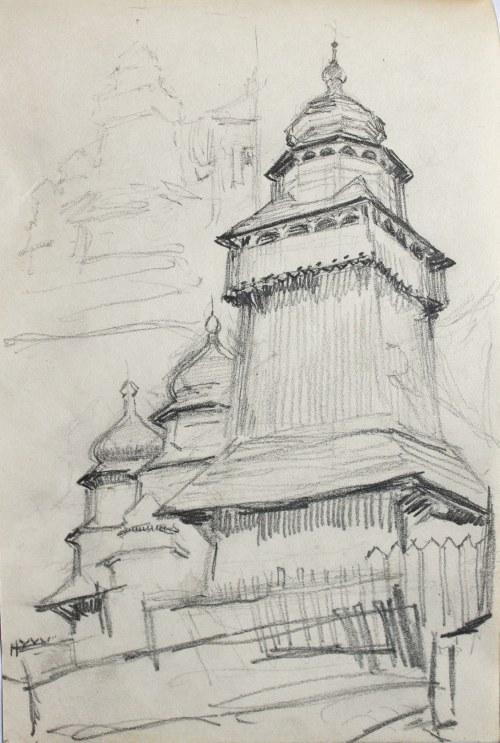 Józef PIENIĄŻEK (1888-1953), Kościół drewniany