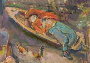 Kasper POCHWALSKI (1899-1971), Sen na podwórku, 1938?