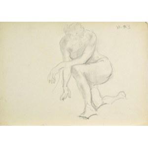 Kasper POCHWALSKI (1899-1971), Akt klęczącej kobiety, 1953