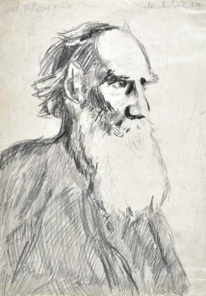Marian MALINA (1922 - 1985), Starzec z brodą ukazany z prawego profilu, 1951