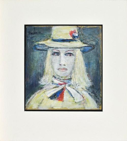 Eugeniusz TUKAN - WOLSKI (1928-2014), Kobieta w kapeluszu