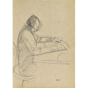 Wojciech WEISS (1875-1950), Mężczyzna czytający przy stole – Portret ojca artysty Stanisława, 1914