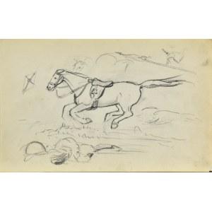 Stanisław ŻURAWSKI (1889-1976), Szkic pędzącego konia