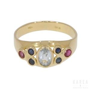 A multi-gem stone ring, Italy, 20th century