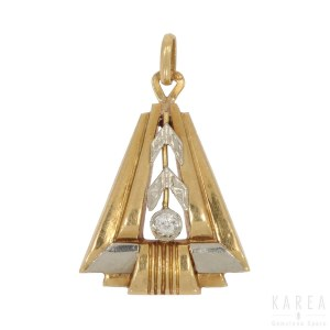 Pierścionek dekorowany stylizowaną gałązką laurową, Portugalia, l. 50. XX wieku