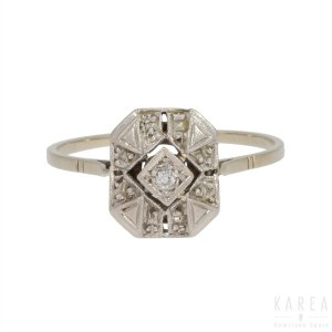 An Art Deco ring, France, 1920s-30s