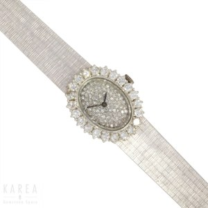 A lady's cocktail wristwatch, France, 20th century