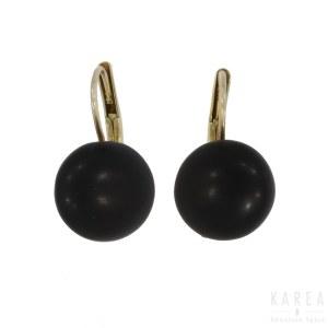 A pair of Victorian/Biedermeier earrings, late 19th century