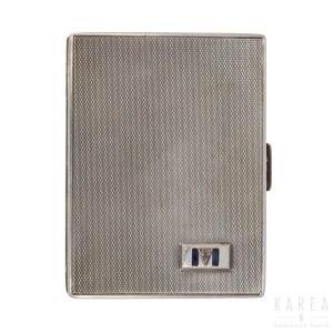 A silver cigarette case, early 20th century