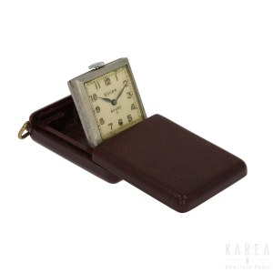 A bakelite cased travel clock, by Exhor 'Sport H', 1930s,