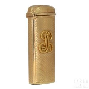 A gold vesta case, France, 1838-1919