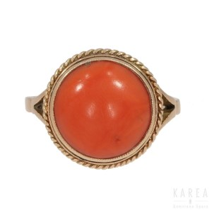 A coral ring, Poland, 1920's-30's