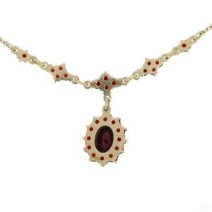 A garnet necklace, Czechia, 20th century