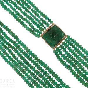 An emerald necklace, 20th century