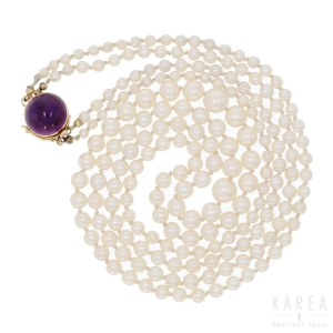 A two strand pearl necklace, Stigbert Engelbert, Stockholm, 1963