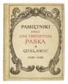 PASEK Jan Chryzostom - Pamiętniki...1926