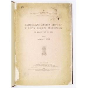 Rozdrabnianie gruntów chłopskich w byłym zaborze austrjackim 1787-1931