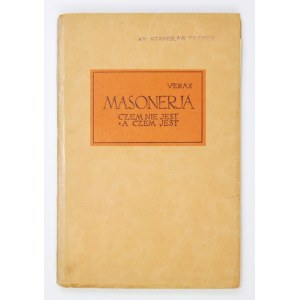 VERAX – Masonerja. Czem jest, a czem nie jest. 1935