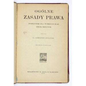 MOGILNICKI A. - Ogólne zasady prawa. Podręcznik 1919